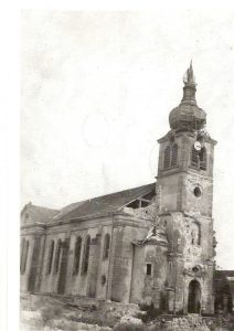 l'église après la guerre